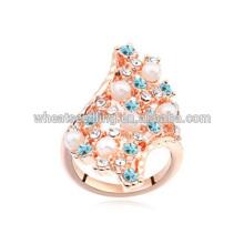 Nueva moda anillos de compromiso de cristal austríaco