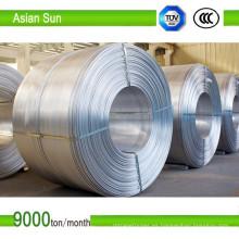 Varilla de aluminio para uso eléctrico