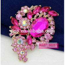 ready to ship custom crystal rhinestone brooch pin