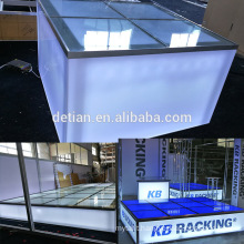 Detian Display offer customized stage for trade show event, custom raised floor stage