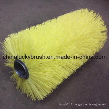 Brosse à rouleaux à billes jaune en nylon ou en PP (YY-005)