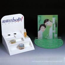 Caixa de exposição cosmética com bandeja de PVC