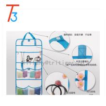 Sac de douche gris à séchage rapide, organisateur d'accessoires de salle de bain à suspendre portable avec 8 poches