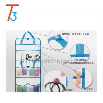 Organizador portátil del accesorio del cuarto de baño de la suspensión del totalizador gris de la ducha del secado rápido con 8 bolsillos