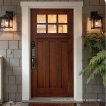 2015 Made in China Puerta exterior de madera, puertas exteriores de ventana de vidrio