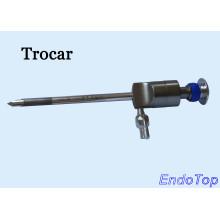 Trocart d'endoscopie médicale réutilisable