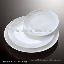 Gesundes haltbares weißes Porzellan-Ofen sicheres silbernes Sand-Geschirr