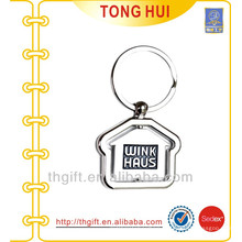 Metal House shape keychains