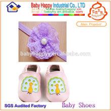 Привлекательный дизайн мягкой увлекательной детской кожаной обуви