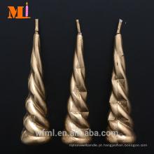 Alta Demanda Cores Diferentes Disponíveis Gold Unicorn Horn Candle Atacado