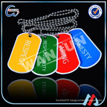 promotional cheap metal colored dog tags(dt-115)