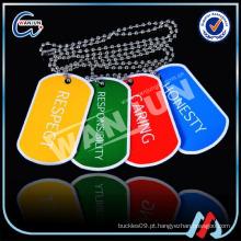 Etiquetas de cão coloridas metálicas promocionais baratas (dt-115)