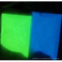 Polvo incandescente de pigmento luminiscente fotoluminiscente para pinturas