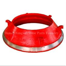 Mélangeur de cossus à cône en acier Manganese Steel Metso HP300