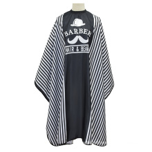 New Stripe Pattern Hair Styling Wrap Cutting Cape for Adults Polyester Barber Cutting Cape