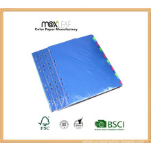 160GSM A4 Multi Colors Paper Index File Divider