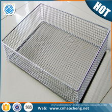 Handicrafts 300 200 micron stainless steel 304 316 woven wire mesh baskets for storage
