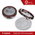 2016 New Arrival Elegant Empty Compact Powder Case With Mirror And Puff