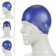 Chapeau de bain de silicone adapté aux besoins du client de promotion