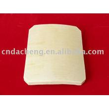 Placa cerâmica à prova de balas