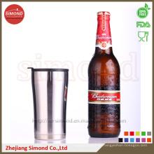 Taza de cerveza de vacío de 12 onzas para mantener el agua fría, termo con tapa