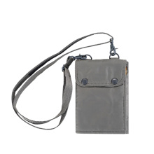 Nylon Grey Phone Pouches Passport Bags for Travel
