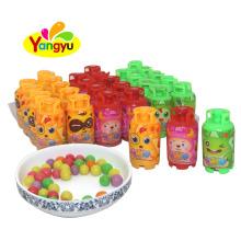 Gas Bottle Halal Mini Round Assorted Fruits Hard Candy
