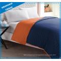Orange Indigo Colorblock Polyester Coverlet Bedding Set