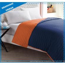 Orange Indigo Colorblock-Polyester-Bettwäsche-Set