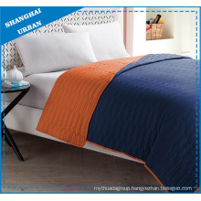 Orange Indigo Colorblock Polyester Coverlet Bedding Set