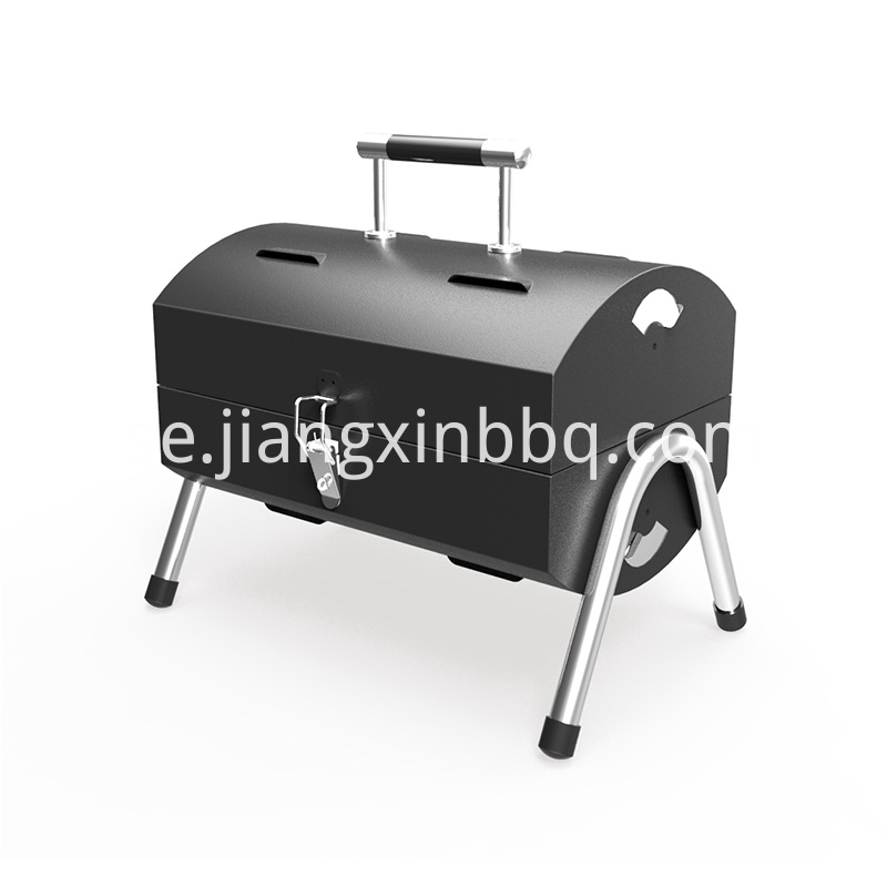 Black Coating Double Sided Charcoal Bbq Outdoor