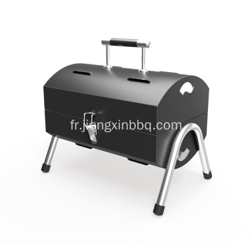 Barbecue au charbon portable double face en acier inoxydable