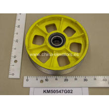Polea Suspension para KONE Elevator Car Bottom KM50547G02