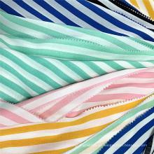 Custom Shirting Textil 100% Rayón Tela impresa a rayas