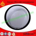 Sunboat 15.5/19.5cm Diameter Cast Iron White+Blue Enamel Bowl