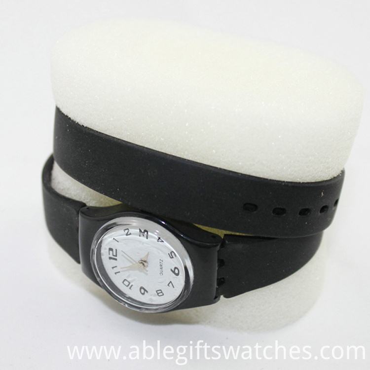 black strap watch
