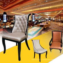 Chaise de luxe de style britannique en chêne (YM-DK04)