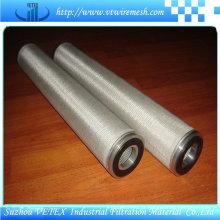 Elementos de filtro de aço inoxidável resistentes ao desgaste