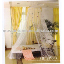 Mosquito net with colorful stars
