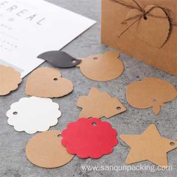 Custom design and print kraft hang tags