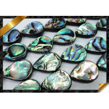 Abalone Shell Beads Flat Teardrop Bead, Abalone Jewelry (APS021)