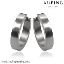 92112 Mode simple acier inoxydable Bijoux boucle d'oreille Hoop en alliage métallique