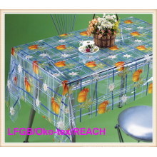 Cheap PVC Transparent Printed Table Cloth New Design