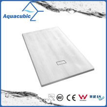Sanitary Ware 1100*800 Wood Surface No Lip SMC Shower Base (ASMC1180W)