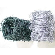 Alambre de púas galvanizado / alambre de púas revestido del PVC