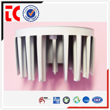 White painted custom made heatsink casting
