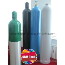 ISO7866 Standard High Pressure 40L Aluminum O2 Gas Cylinders