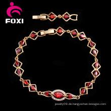 Einzigartiges Frauen-Gold überzogene Edelstein-Großhandels-Kupfer-Armbänder