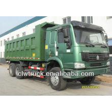 HOWO 371hp camión volquete, 6x4 dump camión volquete