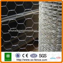 Acoplamiento de alambre hexagonal galvanizado y pvc